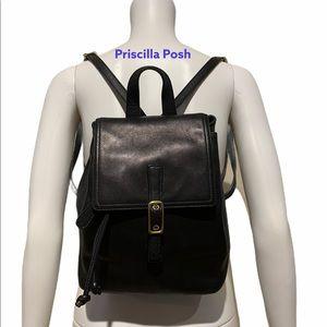 Vintage Coach Legacy Black Leather Backpack 9858